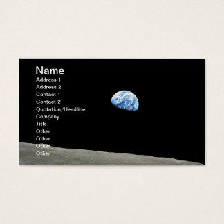 Planetjord som stigning ovanför månen visitkort
