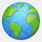Planetjordklistermärke Runt Klistermärke