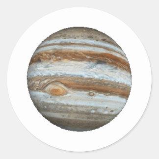 PLANETJUPITER v.2 (sol- system) ~~ Runt Klistermärke