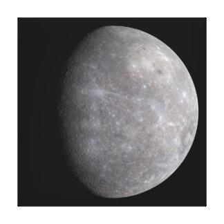 PlanetMercury i utrymme Canvastryck