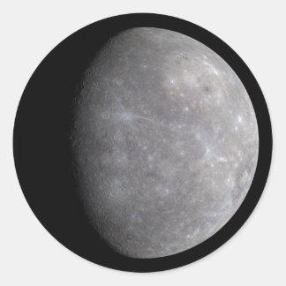 PlanetMercury i utrymme Runt Klistermärke