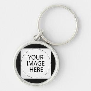 Planlägg din egna beställnings- gåva - skapa ditt rund silverfärgad  nyckelring 4325cc39e39b5