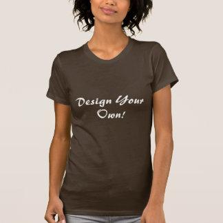 Planlägg din egna brunt t shirt