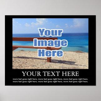 Planlägg din egna personlig avbildar och text poster