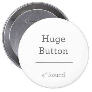 Planlägg ditt eget knäppas stor knapp rund 10.2 cm