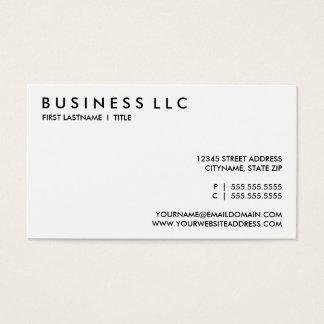 planlägg ditt eget: platta till svarten och white. visitkort