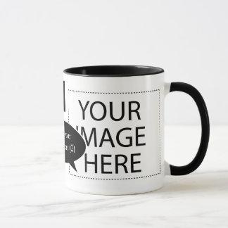 Planlägg ditt egna beställnings- tal bubblar kaffe mugg