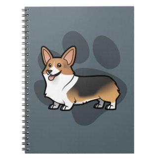 Planlägg ditt egna husdjur anteckningsbok med spiral