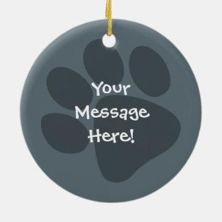 Planlägg ditt egna husdjur julgransprydnad keramik