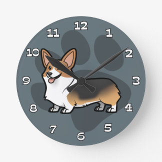 Planlägg ditt egna husdjur medium rund klocka