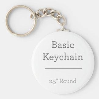 Planlägg ditt egna rundafoto Keychain Rund Nyckelring