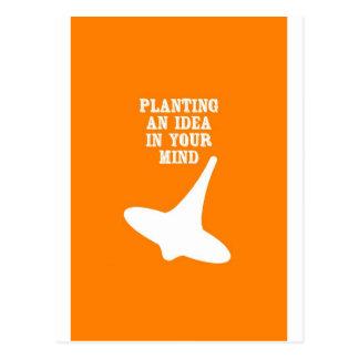 Plantera en idé i ditt varar besvärad vykort