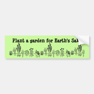 Plantera en trädgård för jord Sakebildekal Bildekal