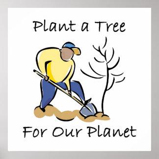 Plantera ett träd poster