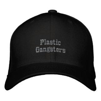 Plast- gangster broderad keps