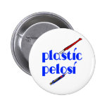 Plast- Nancy Pelosi Knappar Med Nål