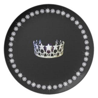 Plast- tallrikar för Fröcken USA silverkrona