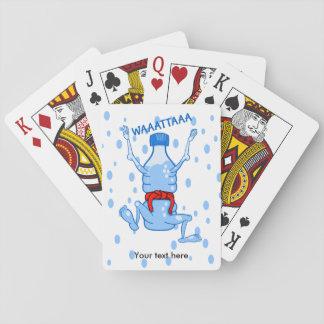 Plast- vattenflaskakampsportar spel kort