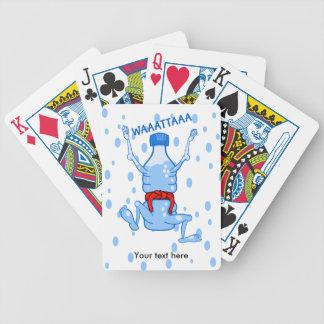 Plast- vattenflaskakampsportar spelkort