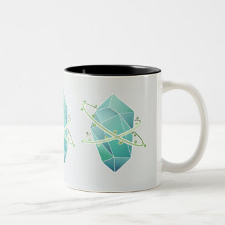 Plat kristallen Två-Tonad mugg