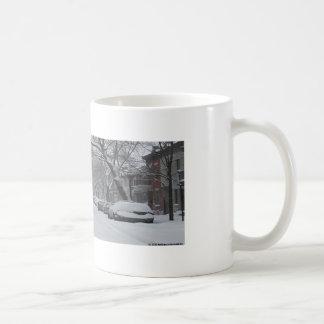 Platå Montreal i vinter Vit Mugg