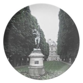 Plätera - Jardin du Luxembourg, Paris, frankrike Tallrik