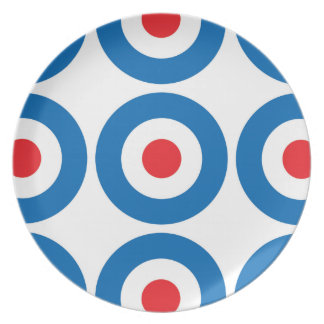 Plätera uppsätta som mål mönster tallrik