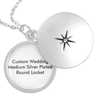 Pläterad Locket Tenplate för personligt bröllp Berlockhalsband