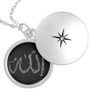 Pläterad necklace. för Asma Ul Husna silver Halsband Med Rund Berlock