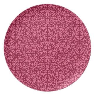 Pläterar blom- Vines för den Deco cranberryen Tallrik
