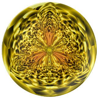 Pläterar dekorativt porslin för guld-