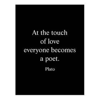 Plato citationstecken; Handlag av kärlek Vykort