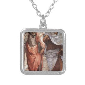 Plato och Aristotle Silverpläterat Halsband