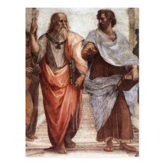 Plato och Aristotle Vykort