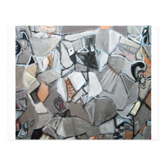 Platos metalliska Symposium (abstrakt cubism) Vykort