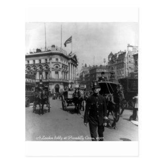 Plats 1901 för gata för vintageLondon Piccadilly Vykort