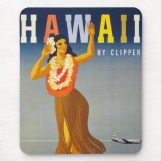 Plats för affisch för vintageHawaii turism Musmattor