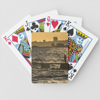 Plats för flodPlaterflod på Montevideo Spelkort