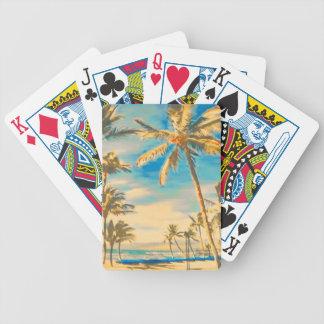 Plats för PixDezines vintagestrand Spelkort