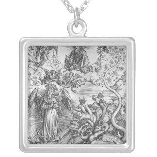 Plats från apokalypset silverpläterat halsband