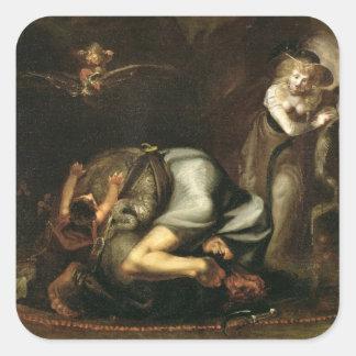 """Platsen av häxor från """"masquen av drottningar vid fyrkantigt klistermärke"""