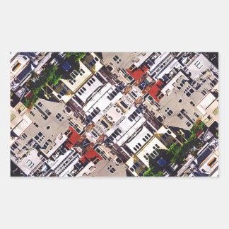 Platsen av staden strukturerar rektangulärt klistermärke