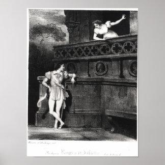 Platsen från agerar III av 'Romeo och Juliet Poster