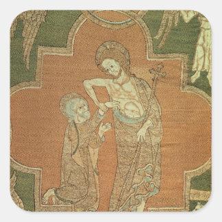 Platsen från liv av Kristus, specificerar från den Fyrkantigt Klistermärke