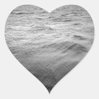 Platsen kanaliserar uddhornen Chile Hjärtformat Klistermärke
