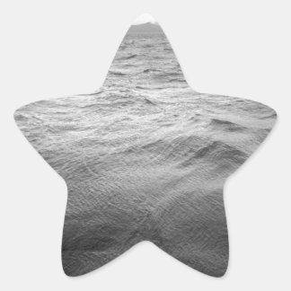 Platsen kanaliserar uddhornen Chile Stjärnformat Klistermärke