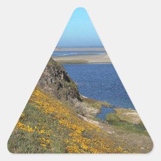 Platsen pekar den Reyes seashoren Kalifornien Triangle Stickers