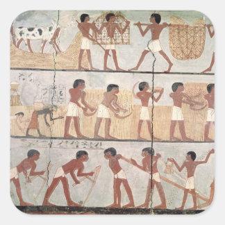 Platser av sådd från graven av Unsou Fyrkantiga Klistermärken