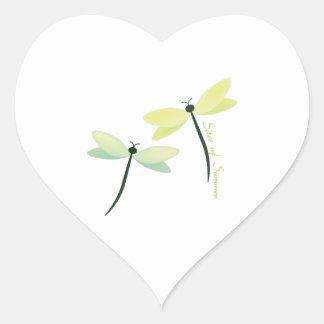 Platser av sommaren hjärtformat klistermärke