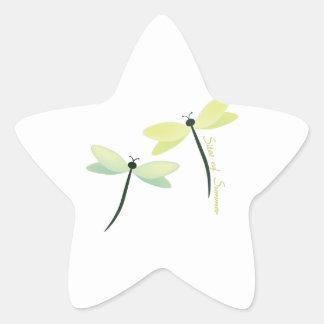 Platser av sommaren stjärnformat klistermärke
